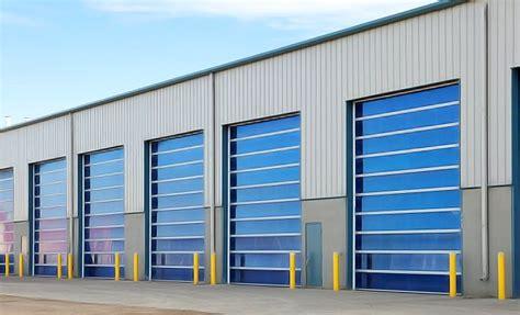 overhead garage doors calgary door commercial industrial view through