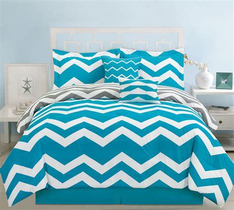 chevron comforter sets 6 chevron teal comforter set