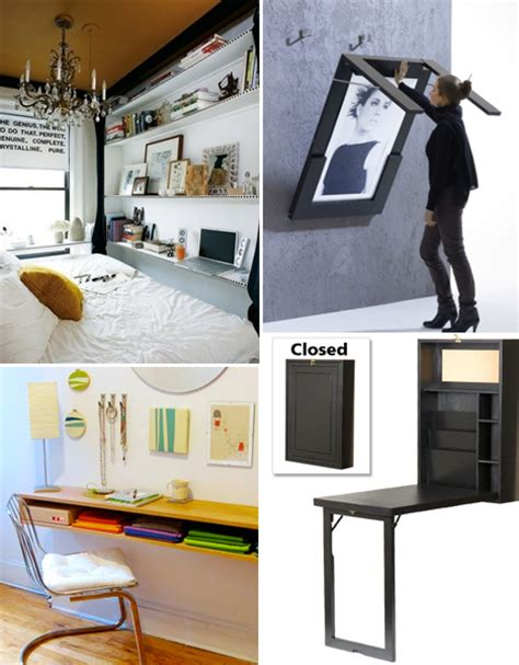 small apartment desks small space hacks 24 tricks for living in tiny apartments