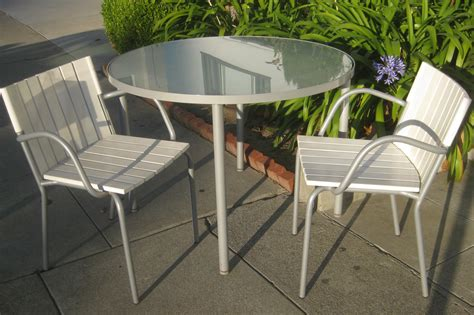 patio table with chairs uhuru furniture collectibles sold patio table and two chairs 65
