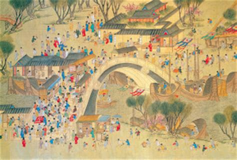 festival painting cina along the river during the qingming festival china
