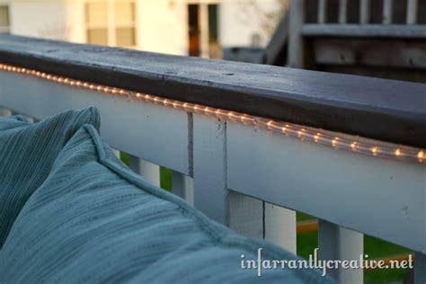 rope lights on deck outdoor deck lighting infarrantly creative