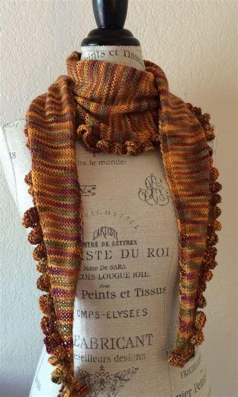 ruffle scarf knitting pattern katy ruffle edge scarf free knitting pattern nobleknits