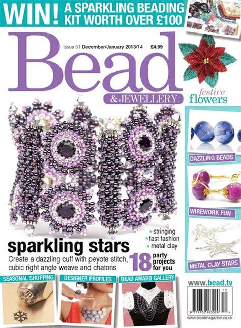 beading magazines bead magazine issue 51 december 2013 january 2014 pdf magazine