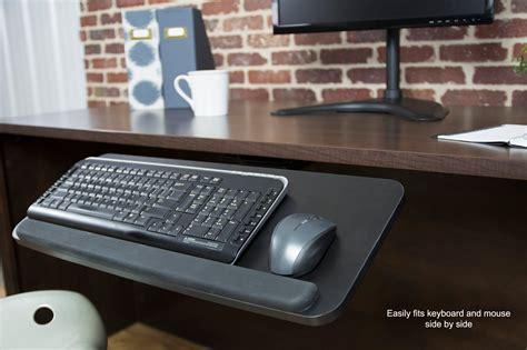 keyboard desk mount vivo adjustable computer keyboard mouse platform tray table desk mount ebay