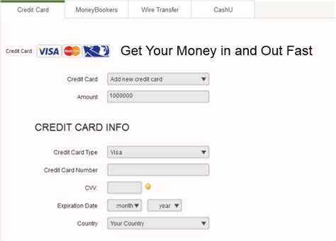 can you make withdrawals with a credit card should you use a credit card to do a binary option deposit