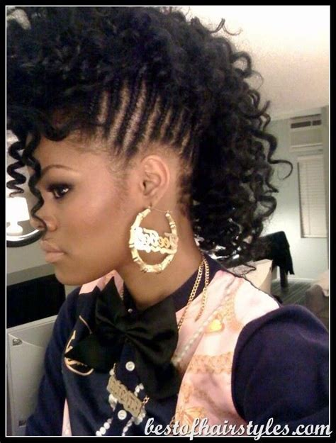braided mohawk with braided mohawk with curls hair styles