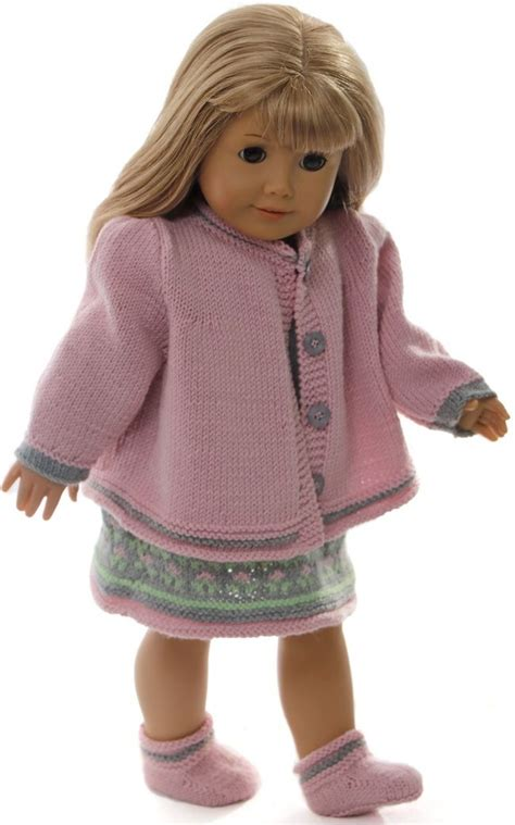 free knitting patterns for 18 inch baby dolls 18 inch doll dress knitting pattern