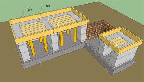 outdoor kitchen plans free howtospecialist how to