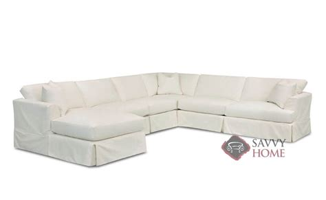 slipcover sectional sofa with chaise berkeley fabric true sectional by savvy is fully