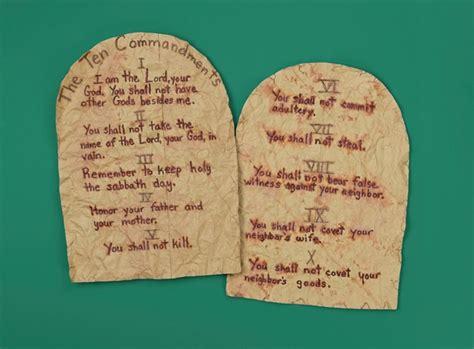 ten commandments crafts for ten commandments tablets craft crayola