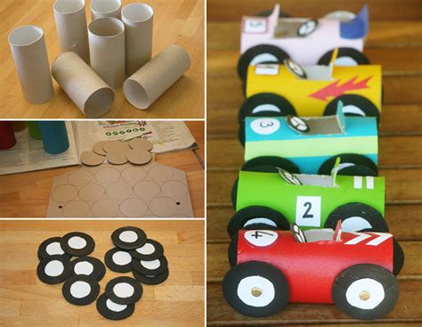 toilet paper craft vehicle crafts for preschoolers toilet paper roll race