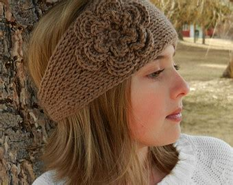 knitting a flower for a headband free knit headband pattern with flower crochet and knit