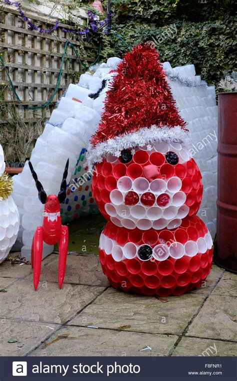 decorations made garden igloo and snowman decorations made from