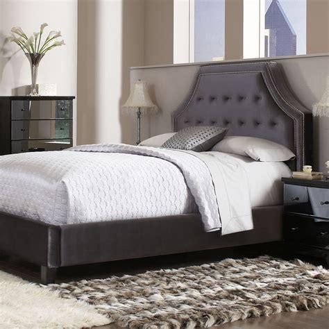 grey headboard gray upholstered headboard standard furniture parisian
