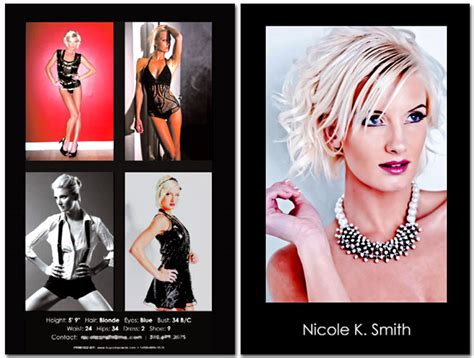 make your own comp card model composite card tush op