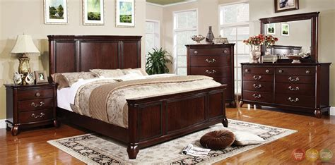 large bedroom furniture sets claymont traditional cherry bedroom set with large raised