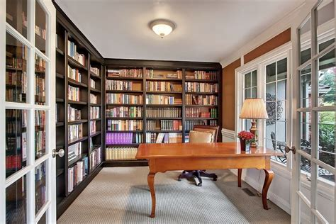 Rugs In Bedrooms traditional home office with built in bookshelf amp carpet