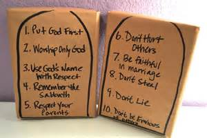 10 commandments for crafts ten commandments crafts for with pictures ehow