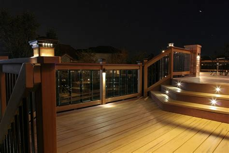 solar deck lighting systems deck lighting ideas to get warm and cozy