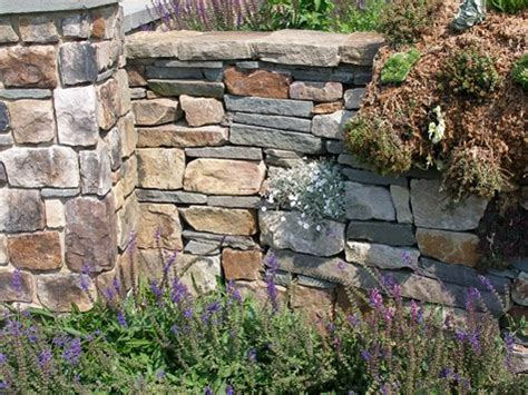 garden wall stones garden walls types of