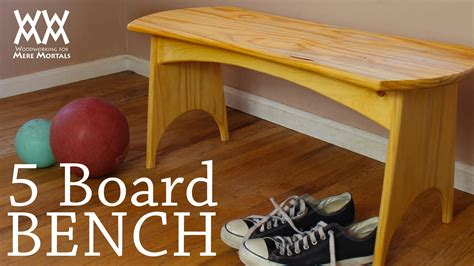 weekend woodworking projects you can make this five board bench in a weekend