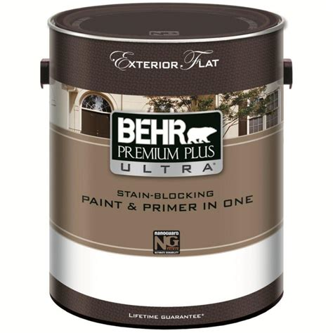home depot paint and primer in one colors premium plus ultra exterior flat paint primer behr html