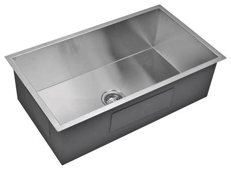 33 x 19 kitchen sink 33 quot x 19 quot zero radius single bowl stainless steel