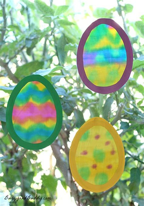egg crafts for easter crafts egg suncatchers made with painted fabric