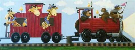Wall Gallery Ideas red train susy bee