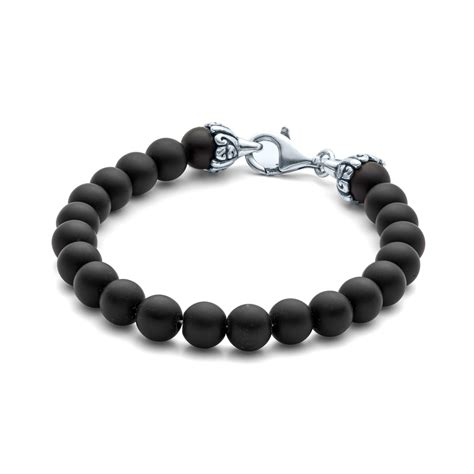 black onyx bead bracelet for elements gemstone bead bracelet 8mm matte black onyx