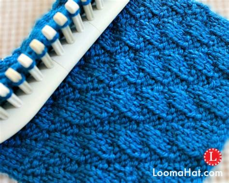 knit stitch on loom loom knitting stitches diagonal stitch by loomahat on