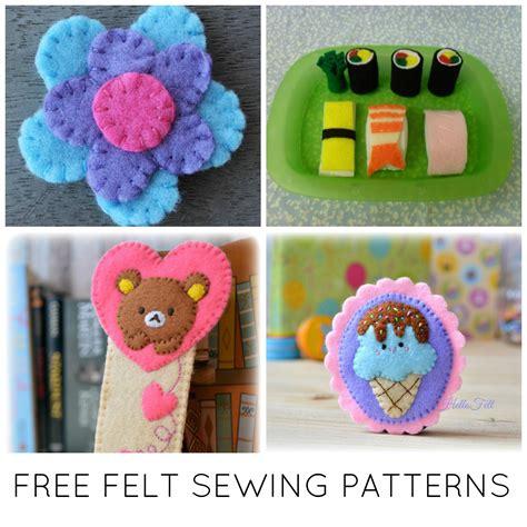 free sewing craft patterns 10 fast free felt sewing patterns