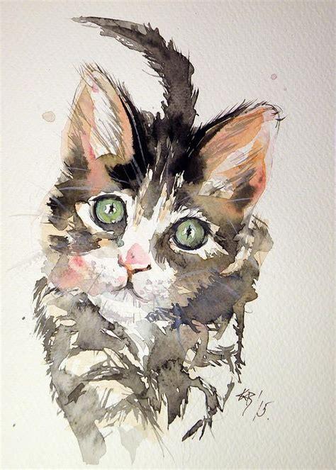 simple painting cat designs las 25 mejores ideas sobre gato de acuarela en