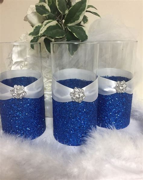 blue and silver centerpieces best 25 royal blue centerpieces ideas on