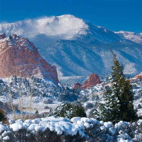 Garden Of The Gods Winter Season Attractions Bed And Breakfast Blue Skies Inn