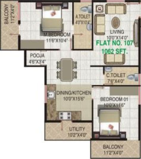 floor plan vr ssignature vr in electronic city phase 1