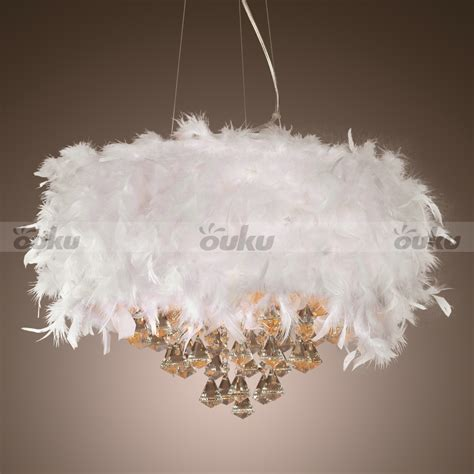 white feather lights modern white feather 3 light ceiling light pendant l