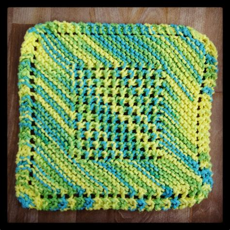knit diagonal dishcloth 1000 images about knit dishcloths on
