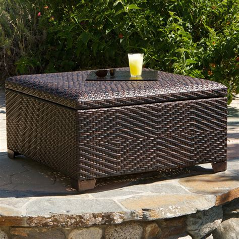 outdoor storage ottoman bench kingston indoor outdoor storage ottoman traditional