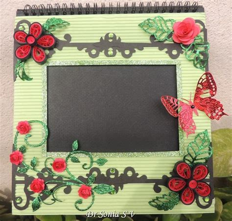 craft photo frames for cards crafts projects punchcraft and quilled
