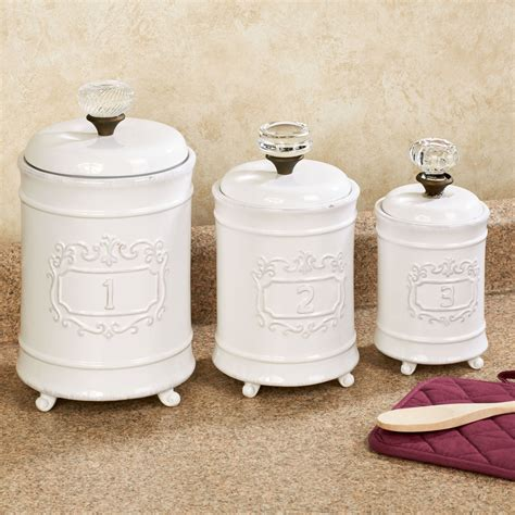 Glass Kitchen Canister Sets circa white ceramic kitchen canister set