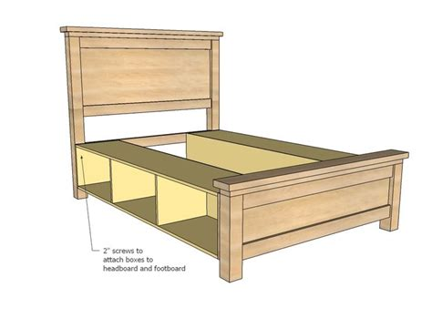 king bed frame with drawers plans king size bed frame with drawers plans woodworking