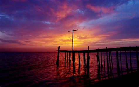 paint nite santa rosa pier sunset dock sea sky clouds