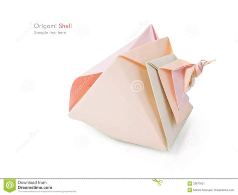 origami conch shell origami shell stock image image 33977001