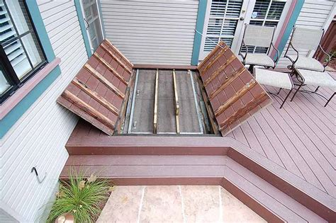 outdoor basement doors m m builders deck details