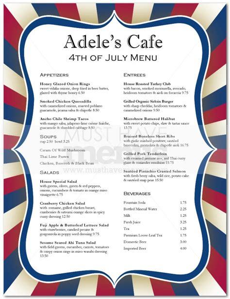 july 4th menu page 1