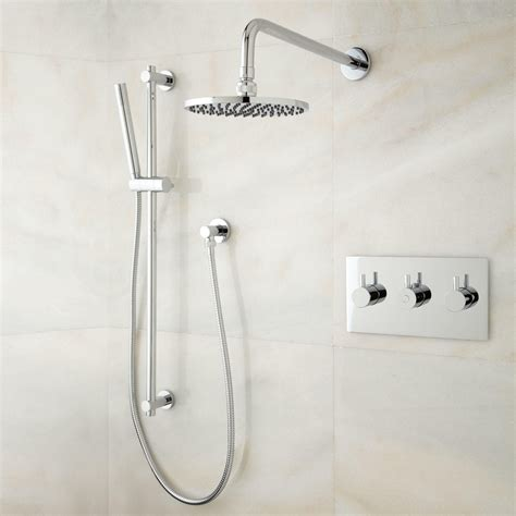 Tosca Thermostatic Shower System With Rainfall Shower And