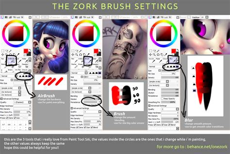 paint tool sai brush setting my sai brush settings by thezork on deviantart