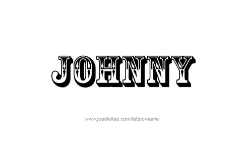 johnny name tattoo designs